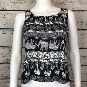 Tops - Elephant Inspired Tropical Top